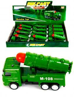 Металлическая машинка Die-Cast «Баллистическая ракетная установка M-108» 1210-D15, инерционная