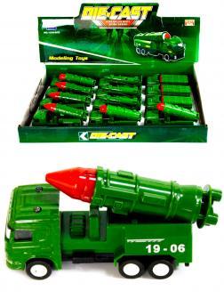 Металлическая машинка Die-Cast «Военная техника 19-06» 1210-D15, инерционная