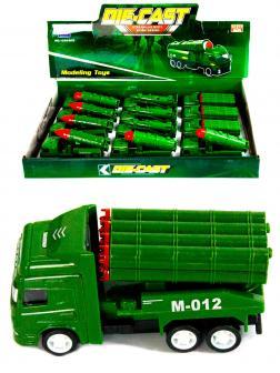 Металлическая машинка Die-Cast «Система залпового огня M-012» 1210-D15, инерционная