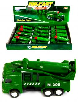 Металлическая машинка Die-Cast «Ракетная установка M-205» 1210-D15, инерционная