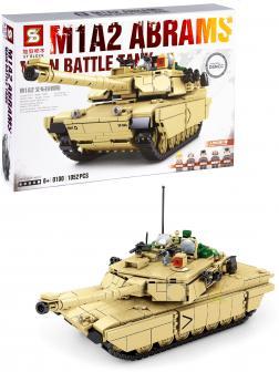 Конструктор SY «Боевой танк M1A2» 0100 / 1052 деталей