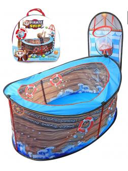 Детская игровая палатка / манеж «Пиратский корабль» с кольцом 110 х 87 х 92 см.