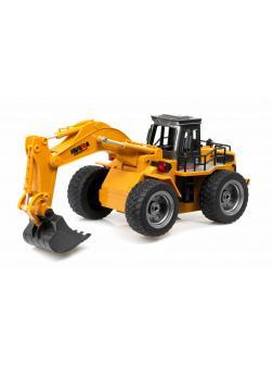 Радиоуправляемый экскаватор Hui Na Toys 1:18 «Excavator» 1530, 2.4G, металлический