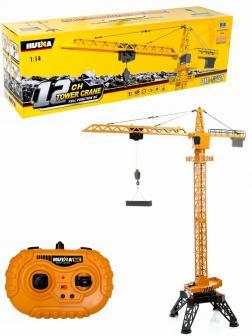 Радиоуправляемый башенный кран Hui Na Toys 1:14 1585, 2.4G, металлический