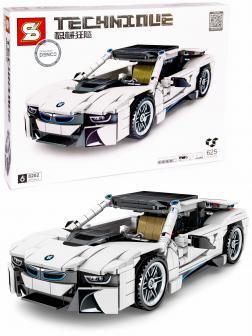 Конструктор Sheng Yuan «Спортивный автомобиль BMW i8» 8202 инерционный / 625 деталей