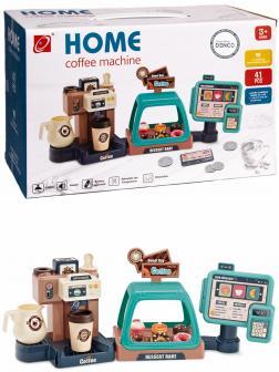 Детский игровой набор Бариста «Домашняя кофемашина 3 в 1» 668-94 / 41 аксессуар