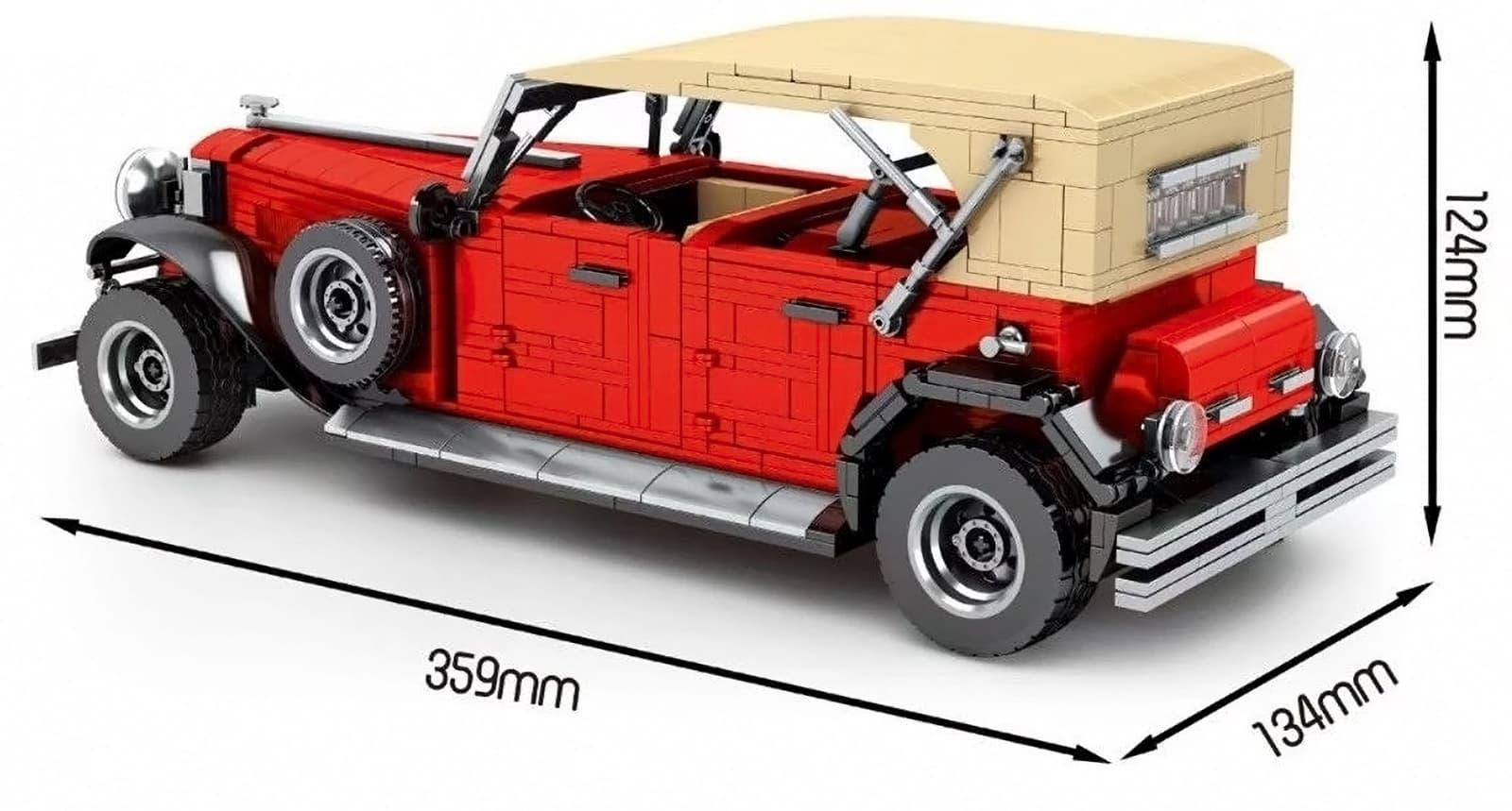 Конструктор Sheng Yuan 1:14 «Красный классический автомобиль» 8612 / 1134 детали
