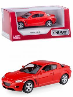 Металлическая машинка Kinsmart 1:36 «Mazda RX-8» KT5071W инерционная в коробке / Красный