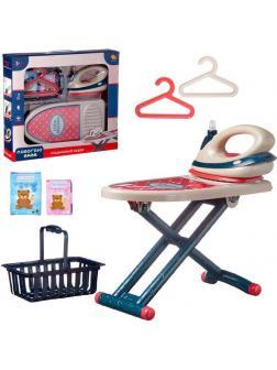 Игровой набор ABtoys Помогаю Маме Гладильный набор: угюг на батарейках, доска, аксессуары