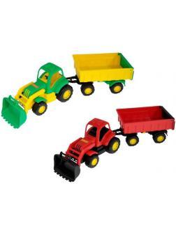 Трактор с прицепом 2 с ковшом Крепыш