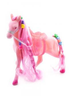 Кукольная фигурка Лошадка Принцессы 17 см. 3308 / Розовая