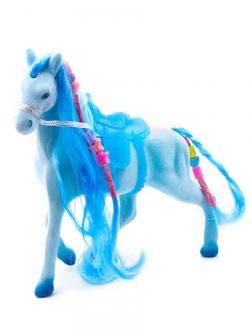 Кукольная фигурка Лошадка Принцессы 17 см. 3308 / Голубая