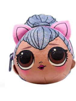 Плюшевая сумочка-антистресс с сюрпризом внутри L.O.L. Surprise Kitty Queen, AST193940