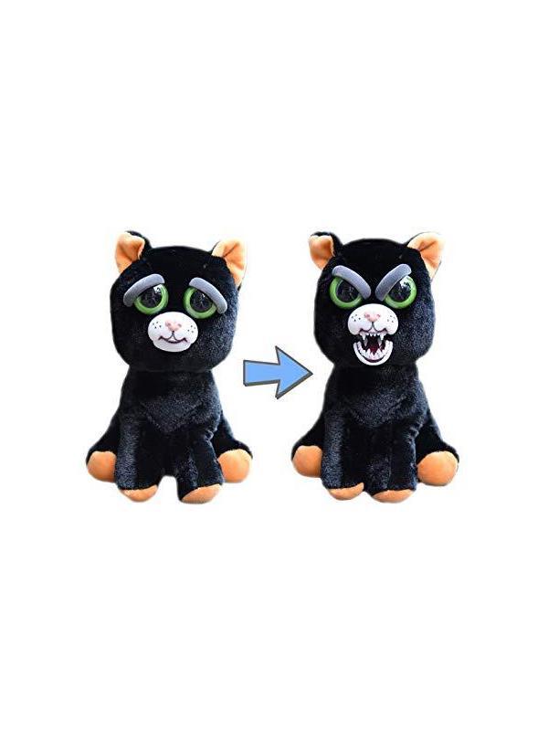 Мягкая игрушка «Злой / Добрый Кот черный» 20 см.