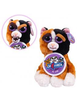 Мягкая игрушка Feisty Pets «Злая / Добрая пятнистая кошка  Мэри Монстр-Трак» Хищники / 20 см.