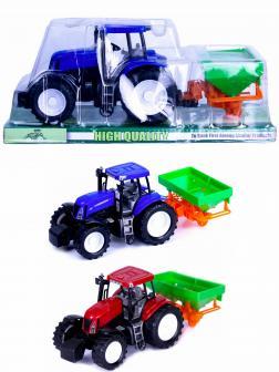 Машинка пластиковая «Трактор сельскохозяйственным с прицепом сеялкой» 3066, свет, звук / Микс