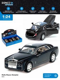 Металлическая машинка XLG 1:24 «Rolls-Royce Sweptai» М923E инерционная, свет, звук / Черный