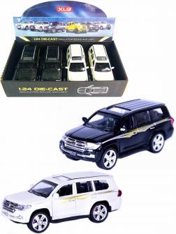Металлическая машинка XLG 1:24 «Toyota Land Cruiser 200» 16 см. M923V инерционная, свет, звук / Микс