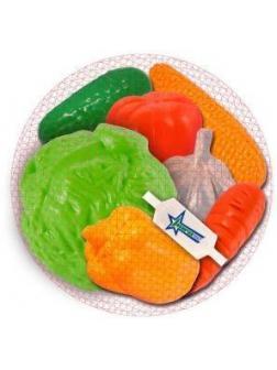 Набор Овощи, 7 предметов в сетке