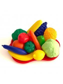 Набор фрукты/овощи №5 с подносом, сетка