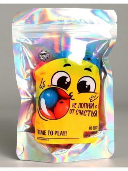 Мячи каучук Не лопни от счастья 10шт, d=2,5 см