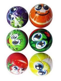 Мяч мягкий Фруктовый смайл, 15 см, в ассортименте, пакет