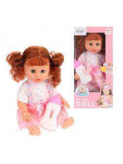 Игр. наб. Мой малыш, в компл. кукла 35 см, пьет, писает, звук, бутылочка, бат.AG13*3шт. вх.в компл.,в ассорт., кор.