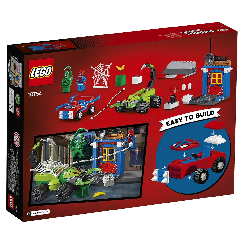 Конструктор LEGO Juniors «Решающий бой Человека-паука против Скорпиона» 10754