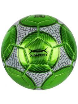 Мяч футбольный X-Match, 1 слой PVC, металлик