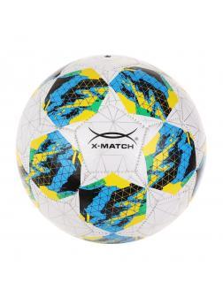 Мяч футбольный X-Match, 1 слой PVC, 1.6 mm., пятиугольники