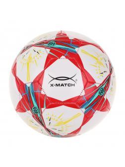 Мяч футбольный X-Match, 1 слой PVC, 1.6 mm., звёзды
