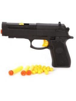 Пистолет, в комплекте: м/пули с присосками 3шт., м/пули шарики 20шт.