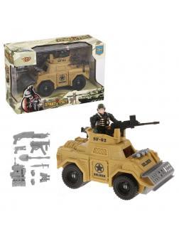 Игровой набор Армия и Флот: солдат, бронемашина с подвижными элементами, оружие, кор.
