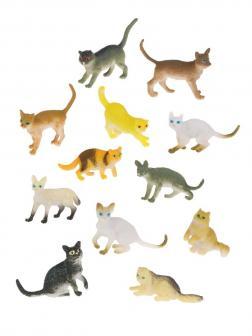 Игровой набор Кошки, 12 предметов, пакет