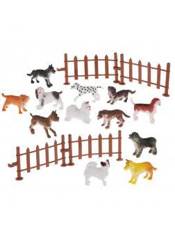 Игровой набор Собаки, 12 предметов, пакет