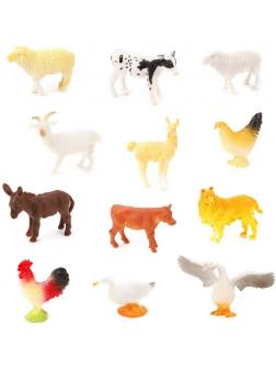 Набор домашних животных Farm animal, 8-12см, 12шт., в ассорт.