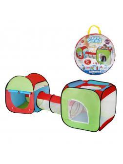 Палатка игровая с туннелем, 83*78*235см, сумка на молнии