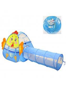 Палатка игровая с туннелем Петушок, в ассорт., размер 215*90*105см, сумка на молнии, в ассорт.