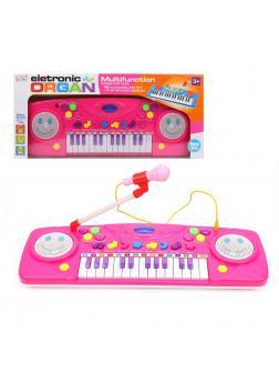 Орган эл. Смайл 25 клавиш, свет, микрофон, демо, запись, эл.пит. 4АА не вх.в комплект, в ассорт.