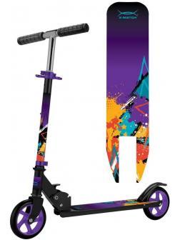 Самокат X-Match Street Art, 145 мм PU, фиолетовый