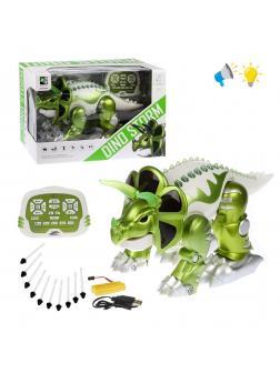 Трансформер Динозавр-робот, ИК управление, свет, звук, в комплекте: стрелы 10шт., аккум., USB шнур, эл.пит. АА*2шт.не вх.в комплект, коробка