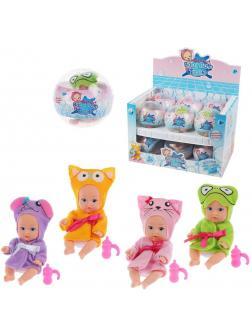 Игр.набор Мой малыш, в комплекте: кукла 10см, предмет 1шт.,  упаковка - шар, в ассортименте