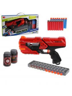 Игр.набор Стрелок, в комплекте бластер, м/пули 16шт., магазин для пуль, мишени 2шт.