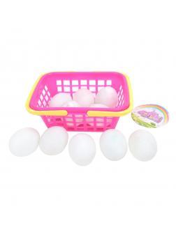 Игр. наб. Продукты - яйца 10шт в корзине