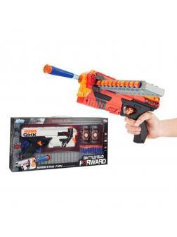 Игр.набор Стрелок, в комплекте: бластер, мягкие пули 20шт., мишени 3шт., в ассортименте