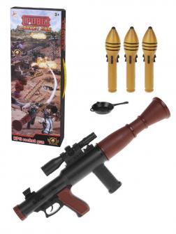 Игр.набор Стрелок, в комплекте: гранатомёт, пластмассовые гранаты 3шт., предмет 1шт.