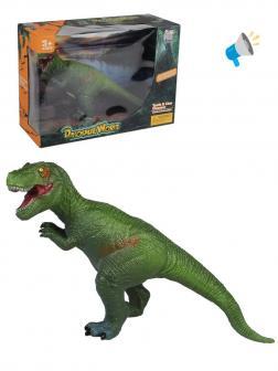 Динозавр, 23 см, эл. пит. 3*AG3, вх. в компл., звук., коробка