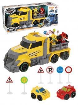 Игр.набор Автовоз, в комплекте: грузовая машина, трансформеры 2шт., дорожные знаки 6шт., коробка
