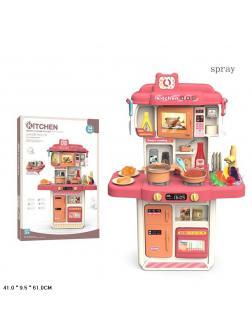 Детская кухня со звуковыми и световыми эффектами 383-060A / 34 предмета