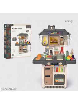 Детская кухня со звуковыми и световыми эффектами 383-053A / 34 предмета